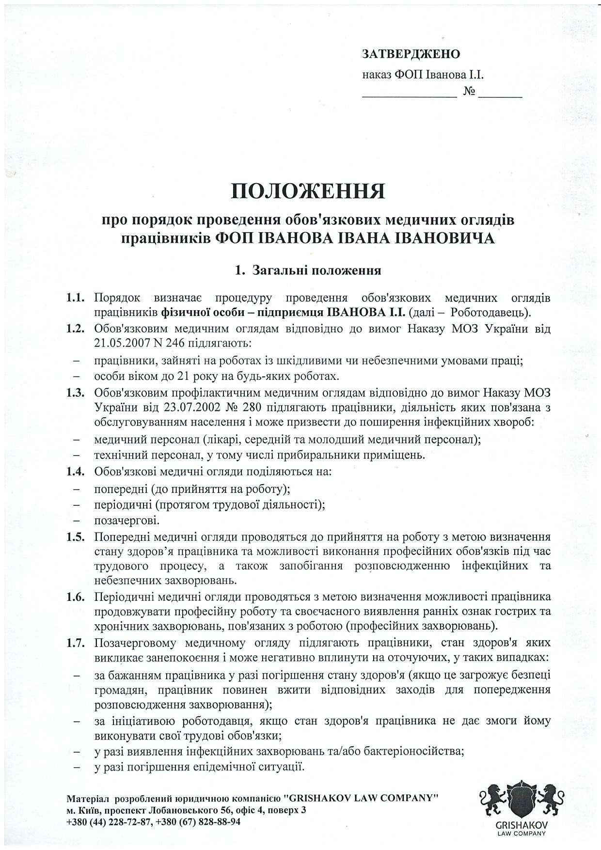 Перечень инструкций в папке по санэпидрежиму